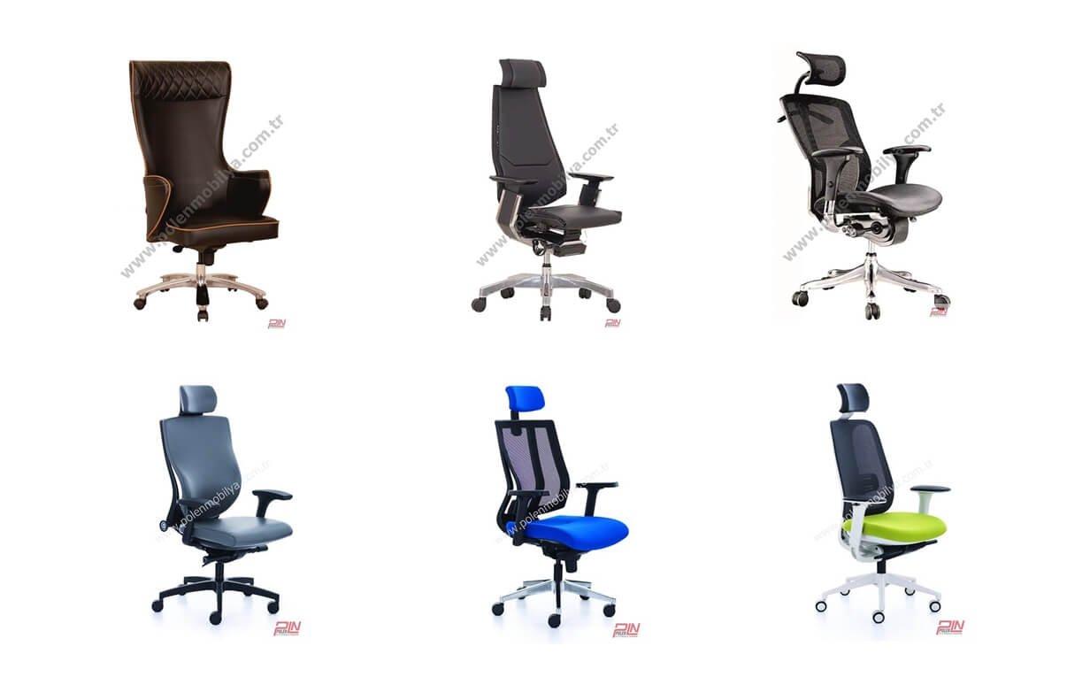 yönetici ve çalışma koltukları