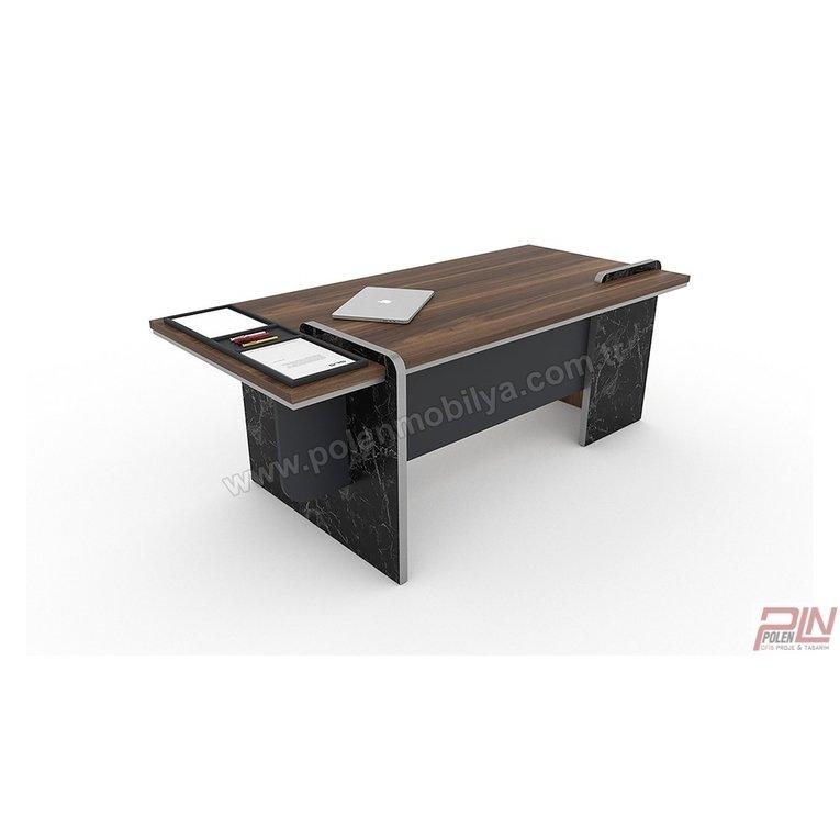 stone yönetici masası, mermer desenli ofis masası