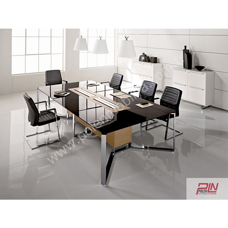 black toplantı masası- pln-6342